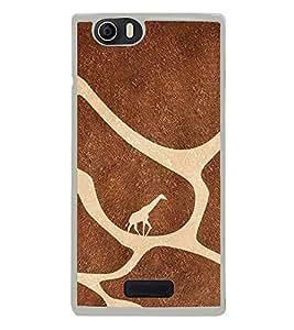 Fuson Designer Back Case Cover for Micromax Canvas Xpress 2 E313 (Giraffe Brown Oasis Islands Migrating)