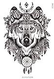 Tatuaje Temporal Lobo–Tatuaje efímero lobo–avastore