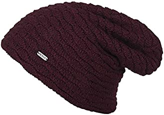Noise NOICAPWNTR040 Polyester Wave Knitted Beanie, Adult (Maroon)