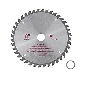 Hoja de sierra circular del carburo cementado de los dientes de los 8inches 40T Herramienta de corte de madera del disco de corte rotatorio Diámetro del agujero 25.4mm