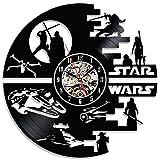 Star Wars décoratif fait main en vinyle Horloge murale