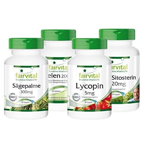 Prostata Set - 90 Tage Versorgung - mit Beta-Sitosterin, Sägepalme, Lycopin und Selen (Beta-sitosterin Prostata)