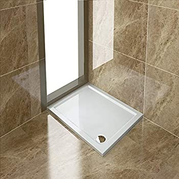 Rectangular 1600 x 900mm Shower Tray Pearlstone for Shower Enclosure Cubicle with Waste Trap