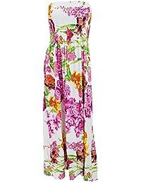 Universal Textiles Womens/Ladies Tropical Bandeau Floral Summer Maxi Dress