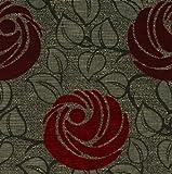 Möbelstoff Stage Farbe 4058 (rot, dunkelrot, braun, grau)