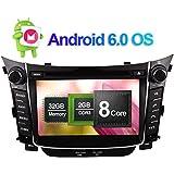 7pulgadas 2Din Android 6.0sistema ocho Core 2GB de RAM 32GB ROM Radio de coche estéreo HEAD unidad Sat Nav GPS navigition para Hyundai i302012en Adelante apoyo RDS/AM/FM/Bluetooth cámara de visión trasera//Espejo Link/WIFI/3G/1080p reproducción de vídeo/DVR/AV Salida