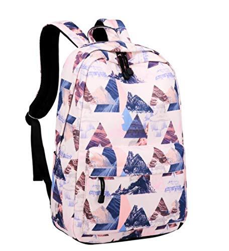 Acmebon Wasserdichte stilvolle Schule Rucksack für Jungen und Mädchen Trend drucken Zufälliger Laptop Rucksack Rosa Landschaft - Rosa Laptop-rucksäcke