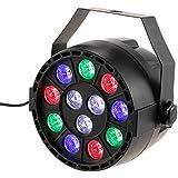 Lixada Bola Discoteca Luces RGB LED Mini Crystal Magic Bola Giratoria Efecto LED Escenario Luces para KTV Navidad Fiesta Boda Discoteca DJ (RGB)