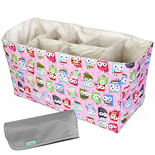 kf-baby-diaper-bag-insert-organizer-14-x-64-x-8-inch-pink-diaper-changing-pad-value-combo