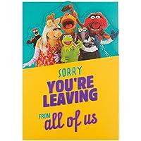 Tarjeta Hallmark de despedida de los Teleñecos con el texto en inglés «From Al of Us» tamaño mediano