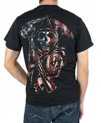 Sons of Anarchy Americana Samcro Homme Noir T-Shirt | XXL