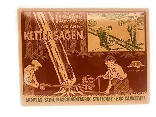 Stihl Blechschild Nostalgie Schild 39,5 x 29,5 cm Werbeschild Vintage
