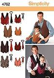 SimplicitySchnittmuster 4762 Westen und Krawatten für Kinder und Herren