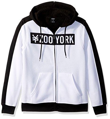 Zoo York Herren Straight Core Plus Sherpa Hoody_p Skateboard-Kapuzenpullover, White, Mittel Zoo York-core