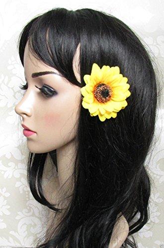 Grand jaune tournesol Vintage Pince à cheveux fleur/festival/style bohème Motif années 50 Années Daisy H45 * * * * * * * * exclusivement vendu par – Beauté * * * * * * * *