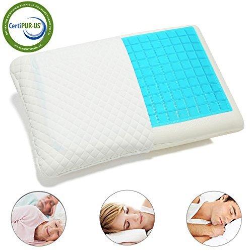 Hankey Almohada Terapéutica de cama con Gel Disipador de Calor 60 x 40 cm,...