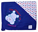 Wrapper With Hood towel (Wh + Blue)