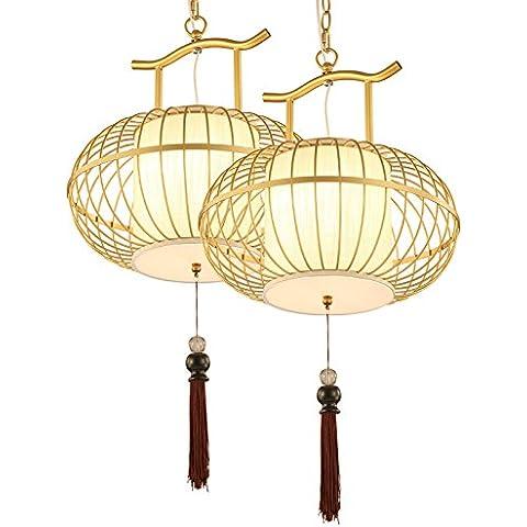 YUENLONG I lampadari in ottone nuovo ristorante cinese classica leggera birdcage lampada camera da letto creative studio balcone corridoio Dia lampada 55cm* ad alta 30cm, diametro 40cm* 30cm alto