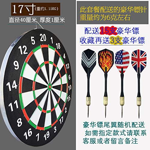 Guo Hengbo Feld Dartscheibe nach Hause Verdickung Scheibe Sportartikel Nadelschießen Ziel Studenten doppelseitige Praxis alle Altersgruppen sind17 Zoll (15 Darts)