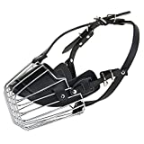 #8: SRI High Quality Steel & PU Dog Muzzle Basket Design Anti-biting Adjusting Straps Mask For Large Dogs