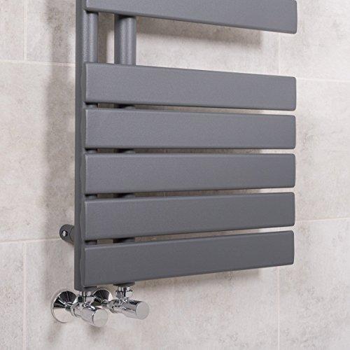 Designer Handtuchheizkörper Badheizkörper 1380x500mm Grau - 4
