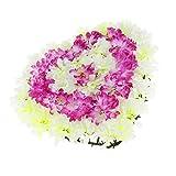 Baoblaze Herzform Chrysantheme Blumenkranz Grabdekoration Grabschmuck Grabgesteck für Trauer und Gedenken - 2
