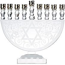 9038 Aulica/01 diseño de lámpara de araña de velas de candelabro Carcasa de cristal 26,8 x 14,6 cm