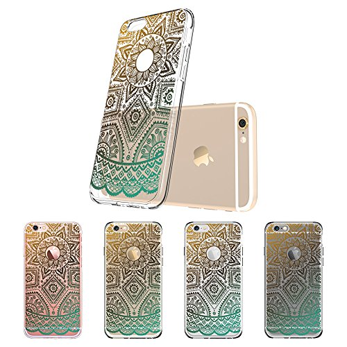 iPhone 6 Plus / 6S Plus Hülle (5,5 Zoll), ESR® Weiche TPU Ränder mit hartem PC Rückdeckel Schutzhülle mit Bändselloch Leichte kratzfeste stoßdämpfende Hülle für iPhone 6/6s Plus (Manjusaka) GoldHenna