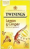 Twinings Lemon and Ginger x20 Tea Bags, 30g