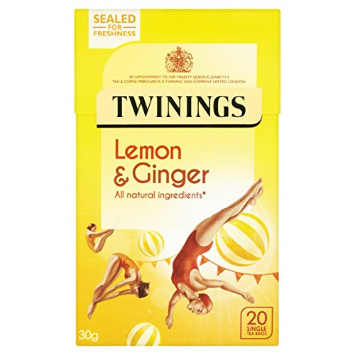 Twinings Lemon and Ginger x20 Tea Bags, 30g