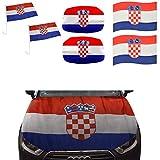 Sonia Originelli Fan-Paket-10-XXL Auto WM Länder Fußball Flaggen 3D Magnet Motorhaube Farbe Kroatien