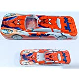 Spiderman Car Pencil Box / Compass Box / Pencil Case With Big And Small Car Inside For Kids