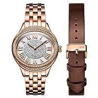 JBW Luxury Women's Plaza Diamond Two Interchangeable Band Watch - J6366-SetC