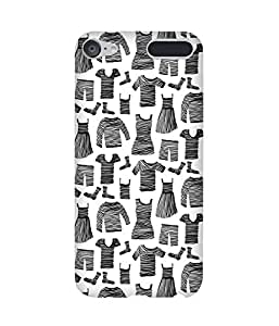 Black Striped Clothes Apple iPod Touch (6th Generation) Printed Back Cover
