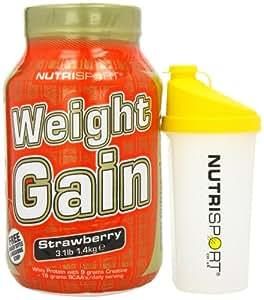 Nutrisport Weightgain Strawberry Shaker 1.4Kg