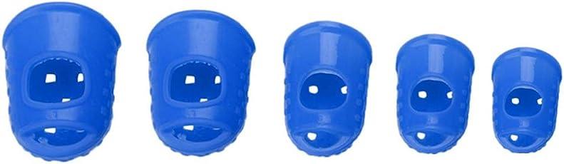 Bobury 5PCS Fingertip-Schutz-Fingerling Silikon-Gitarren-Schnur-Finger-Schutz-Left Hand Finger für Gitarren-Spieler