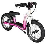 BIKESTAR Laufrad für Kinder im Alter von 3 Jahren, mit Luftreifen und Bremsen, 30,5 cm, Klassische Edition, Pink & Weiß