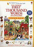 The Usborne First Thousand Words in English : Sticker Book