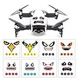 Momola 8Pcs Art Eagle Smile Emoji Shark Sticker Decal Eyes Skin Quadcopter Drone Accessory Parts For DJI DJI Mavic Air/ MAVIC PRO/ DJI Phantom 3 / 4 series / SPARK / Wingsland S6 drone