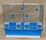Vogelkäfig,Wellensittichkäfig,Exotenkäfig Vogelbauer Wellensittich Kanarien Vogelhaus Käfig' Messi blau Schale' Aufzuchtkäfig, Teilbarer-Käfig neu mit Schub