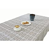 Nappe de table basse de table de table de coton creusée par crochet blanc à la maison de coton Kitchen tablecloth (Color : White, Size : 180 * 180 (round table))