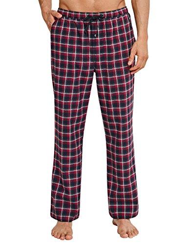 Schiesser Herren Schlafanzughose Mix&Relax Hose Lang, Rot (Rot 500), X-Large (Herstellergröße: 054) (Herren Flanell-pyjama Für)