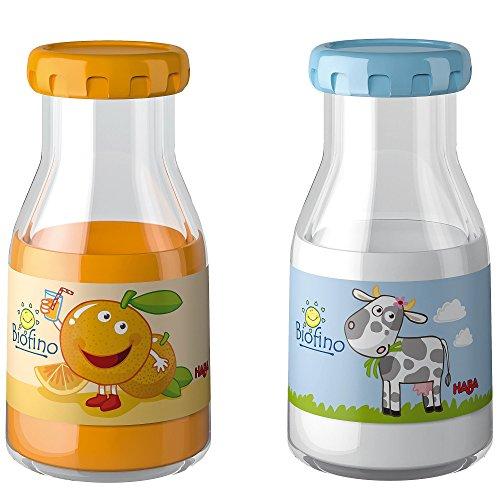 Haba Biofino Milch und Orangensaft im Set für Kinderküche und Kaufmannsladen