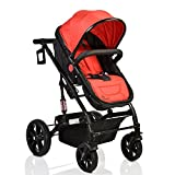 #9: Pavo Italia Luxury Stroller Cum Carry Cot with One-Touch Braking System Stroller - (Age:- 6 to 36 Months)