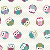 THE TABLECLOTH SHOP Owls Oilcloth Wipe Clean Tablecloth 2m