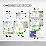 Master of Boards® Schaukasten | Magnete inklusive | Größe wählbar (4xA4)