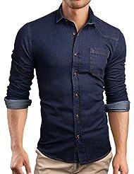 Grin&Bear coupe slim chemise denim jean homme, SH591