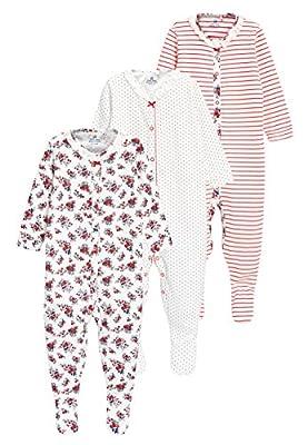 next Bebé-Niñas Pack De 3 Pijamas Estampado Flores