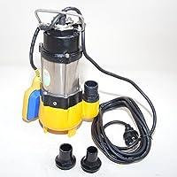 Profi Schmutzwasserpumpe WQ180F Fördermenge: 7800l/h=130 l/min. Spannung: 230V / 50Hz mit freiem Durchlauf für Partikel bis 18mm.