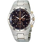 Seiko SND451P1 - Orologio da polso uomo, titanio, colore: grigio